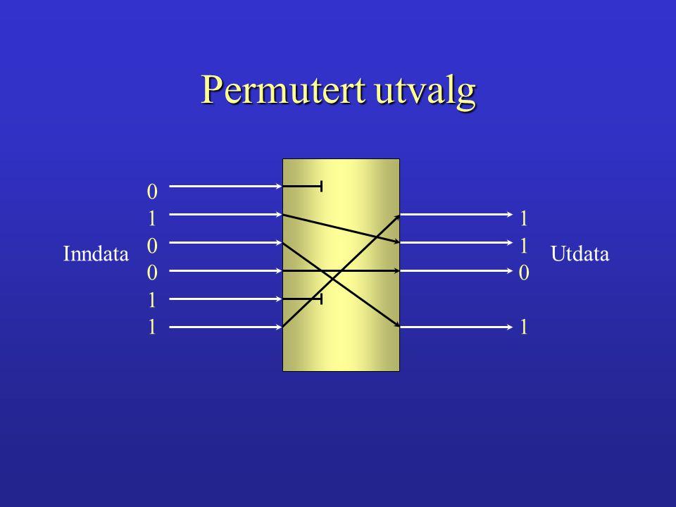 Permutert utvalg 1 1 Inndata Utdata