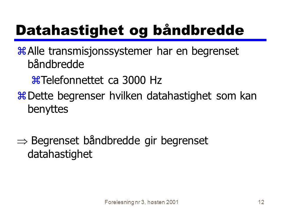 Datahastighet og båndbredde