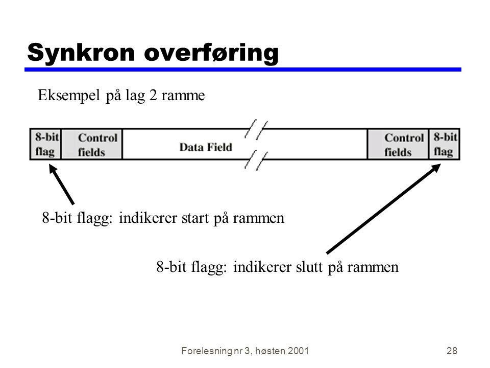 Synkron overføring Eksempel på lag 2 ramme