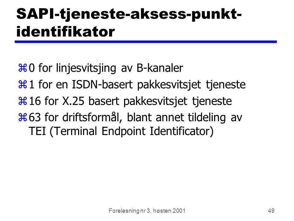 SAPI-tjeneste-aksess-punkt-identifikator