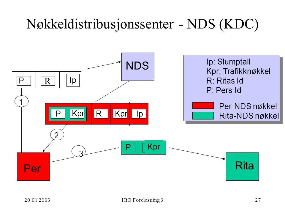 Nøkkeldistribusjonssenter - NDS (KDC)