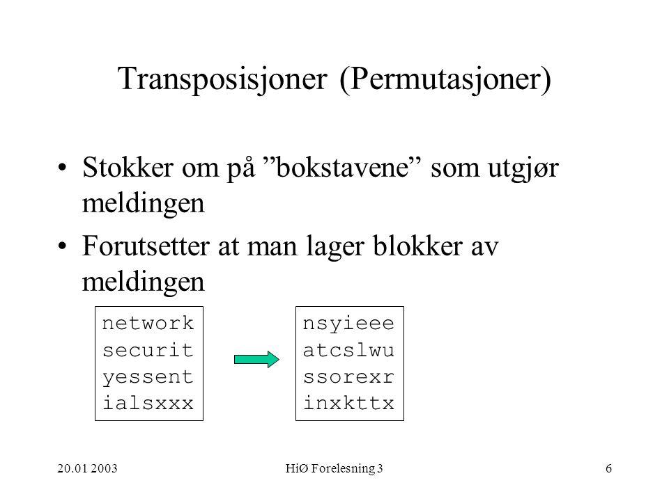 Transposisjoner (Permutasjoner)