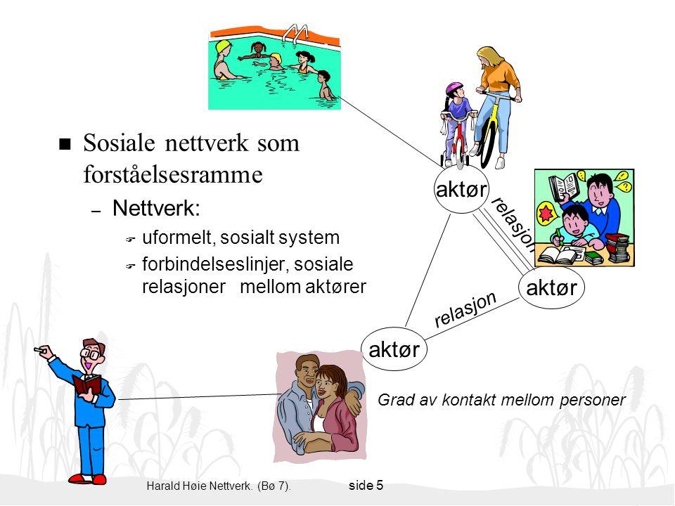 Sosiale nettverk som forståelsesramme