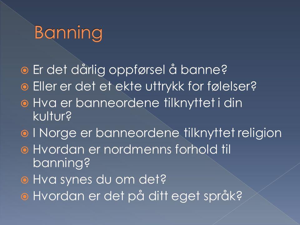Banning Er det dårlig oppførsel å banne