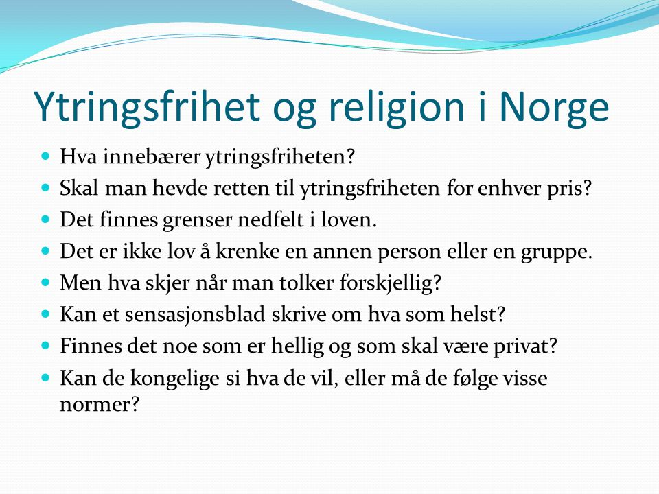 Ytringsfrihet og religion i Norge