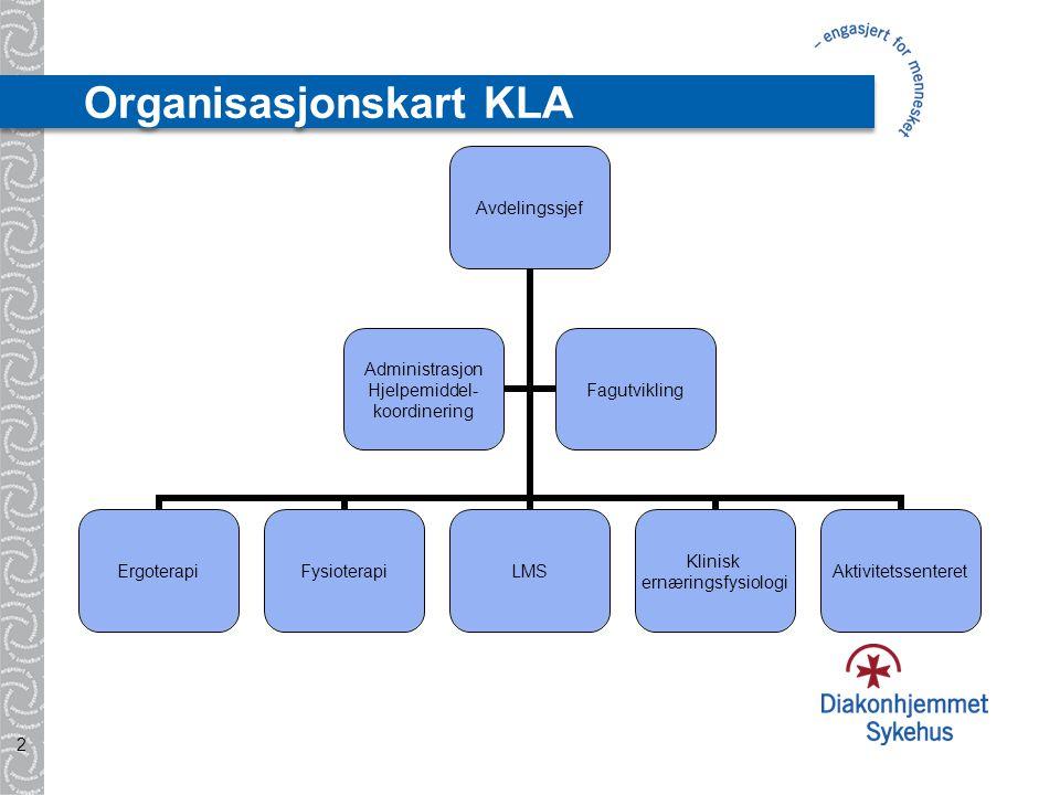 Organisasjonskart KLA