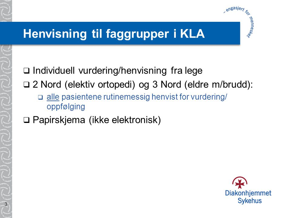 Henvisning til faggrupper i KLA