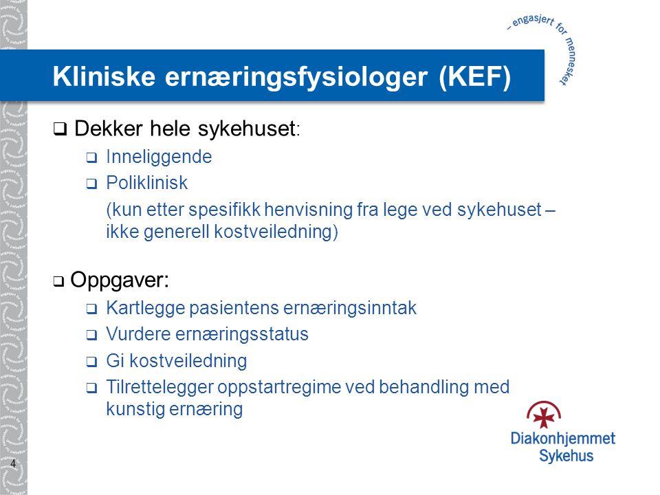 Kliniske ernæringsfysiologer (KEF)
