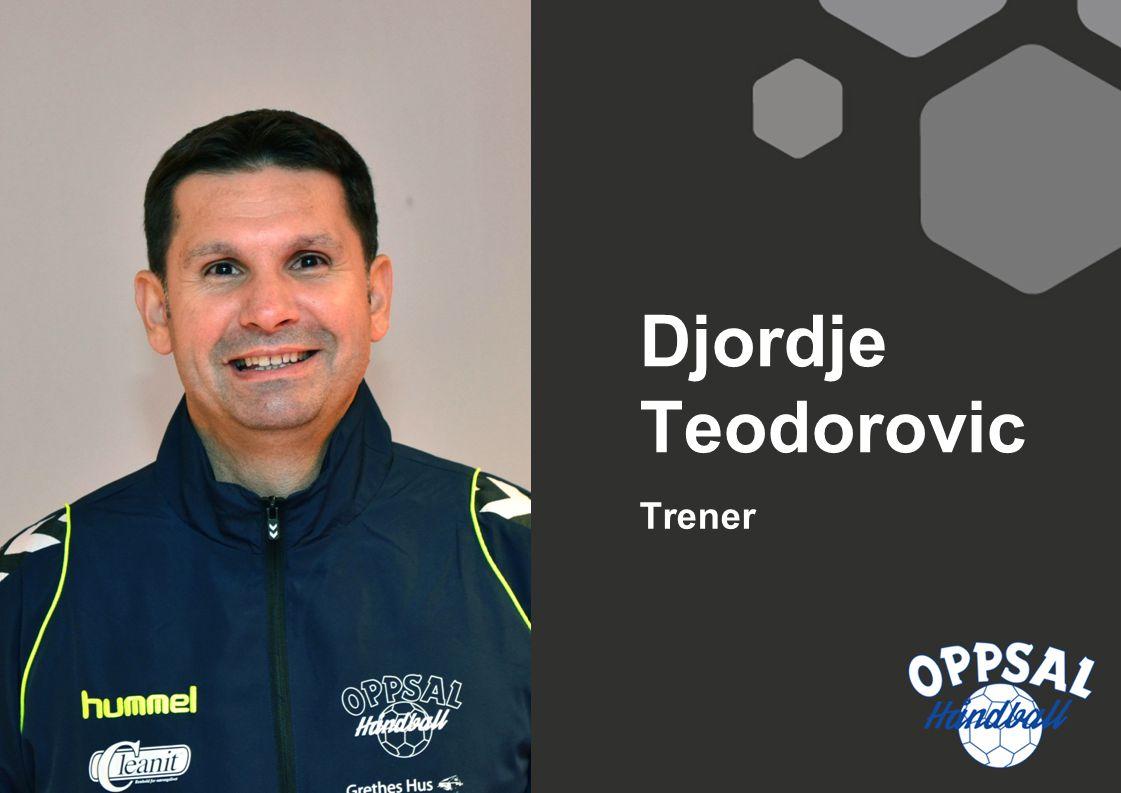 Djordje Teodorovic Trener