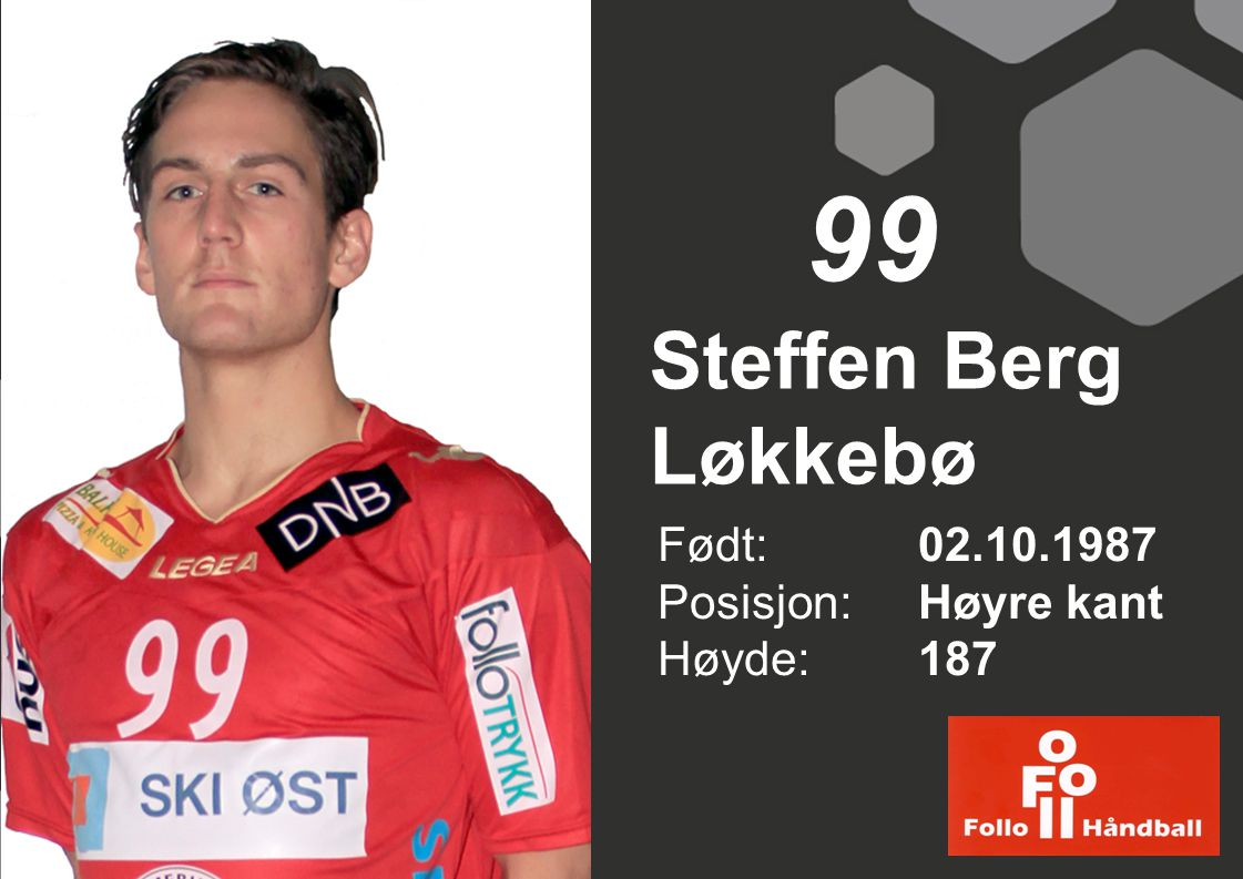 99 Steffen Berg Løkkebø Født: 02.10.1987 Posisjon: Høyre kant