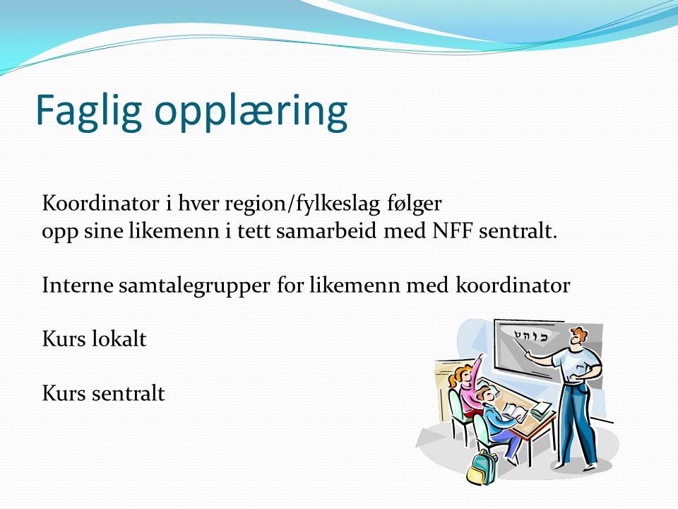 Faglig opplæring Koordinator i hver region/fylkeslag følger