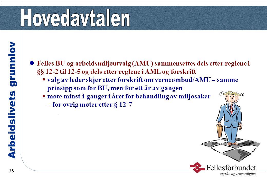 Felles BU og arbeidsmiljøutvalg (AMU) sammensettes dels etter reglene i §§ 12-2 til 12-5 og dels etter reglene i AML og forskrift