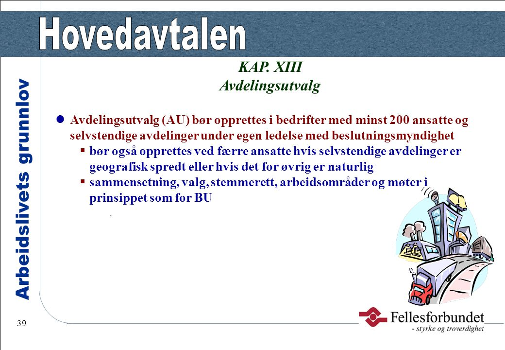 KAP. XIII Avdelingsutvalg