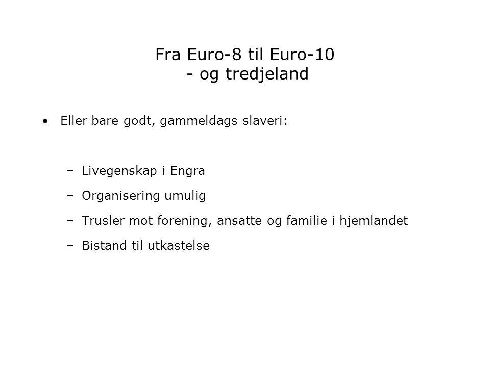 Fra Euro-8 til Euro-10 - og tredjeland