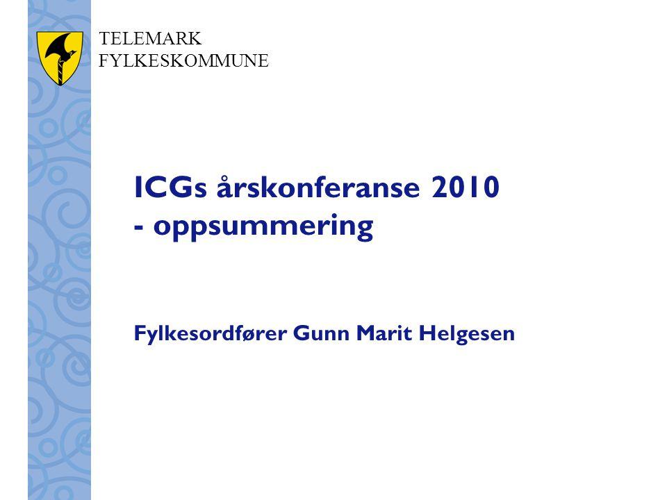 ICGs årskonferanse 2010 - oppsummering