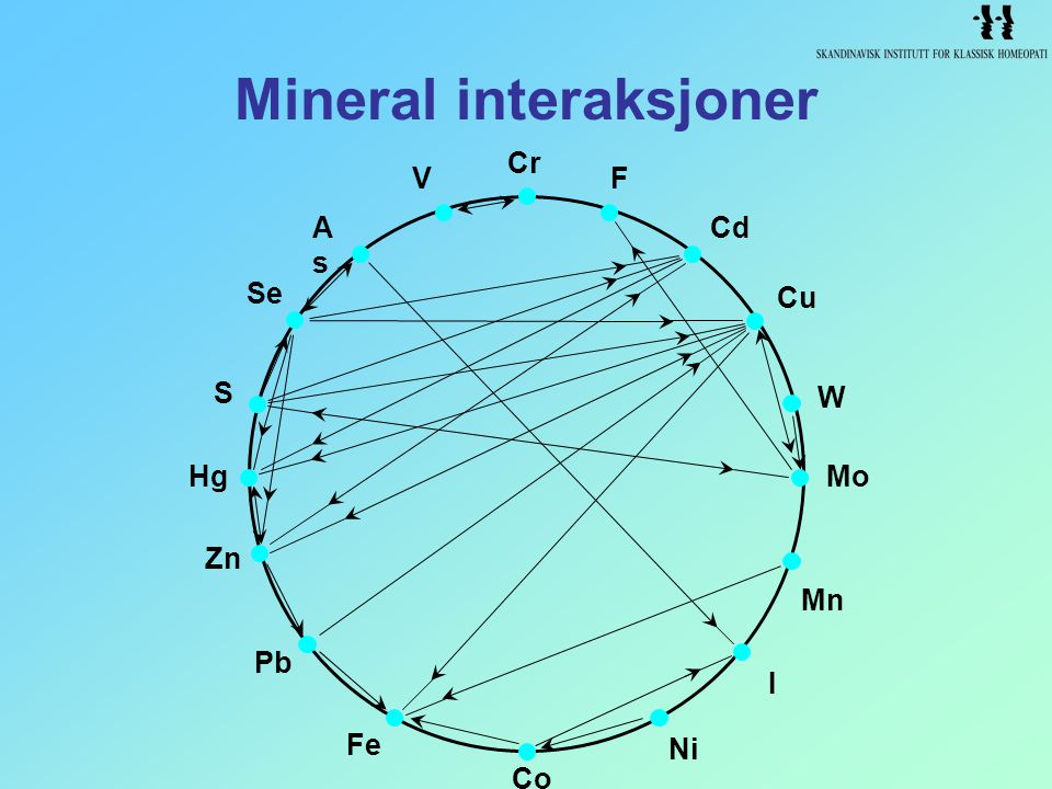Mineral interaksjoner