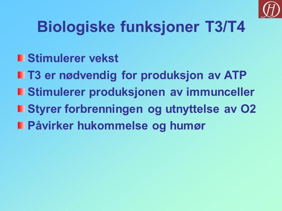 Biologiske funksjoner T3/T4