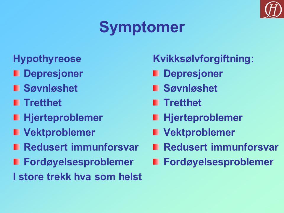 Symptomer Hypothyreose Depresjoner Søvnløshet Tretthet Hjerteproblemer