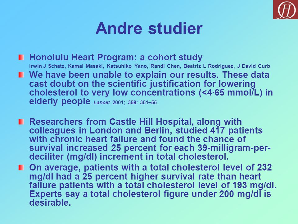 Andre studier Honolulu Heart Program: a cohort study