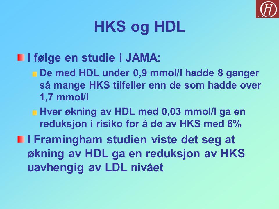 HKS og HDL I følge en studie i JAMA: