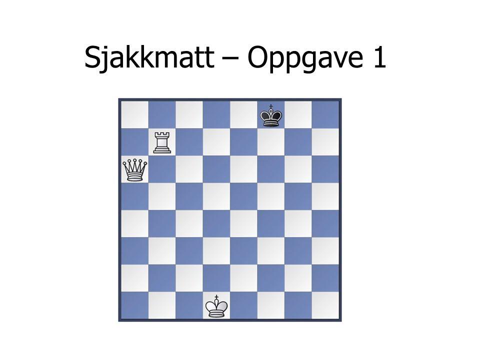 Sjakkmatt – Oppgave 1