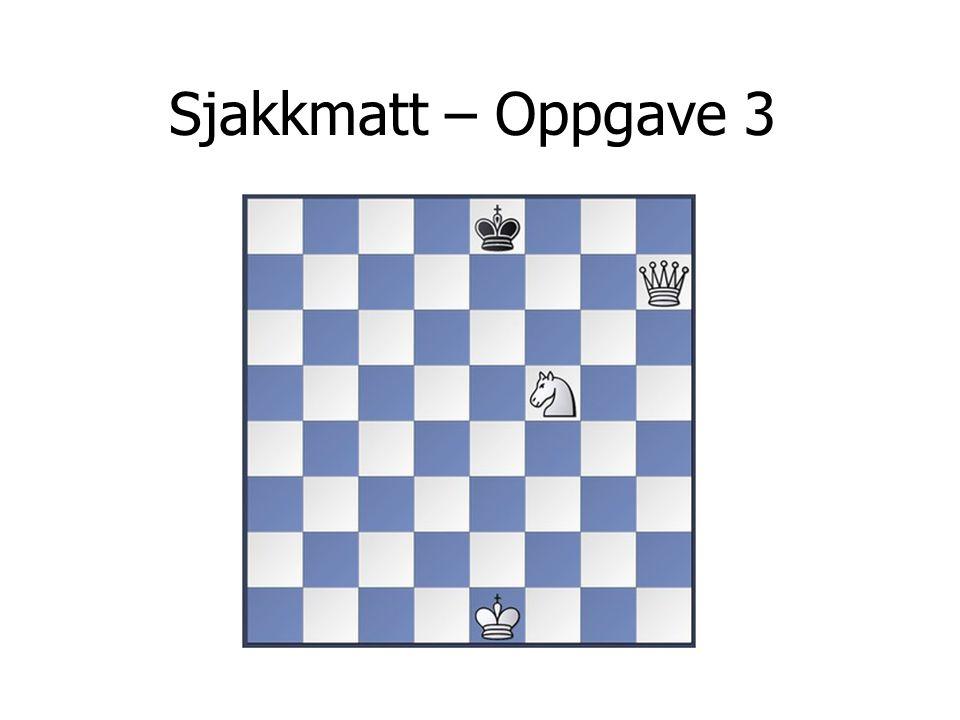 Sjakkmatt – Oppgave 3