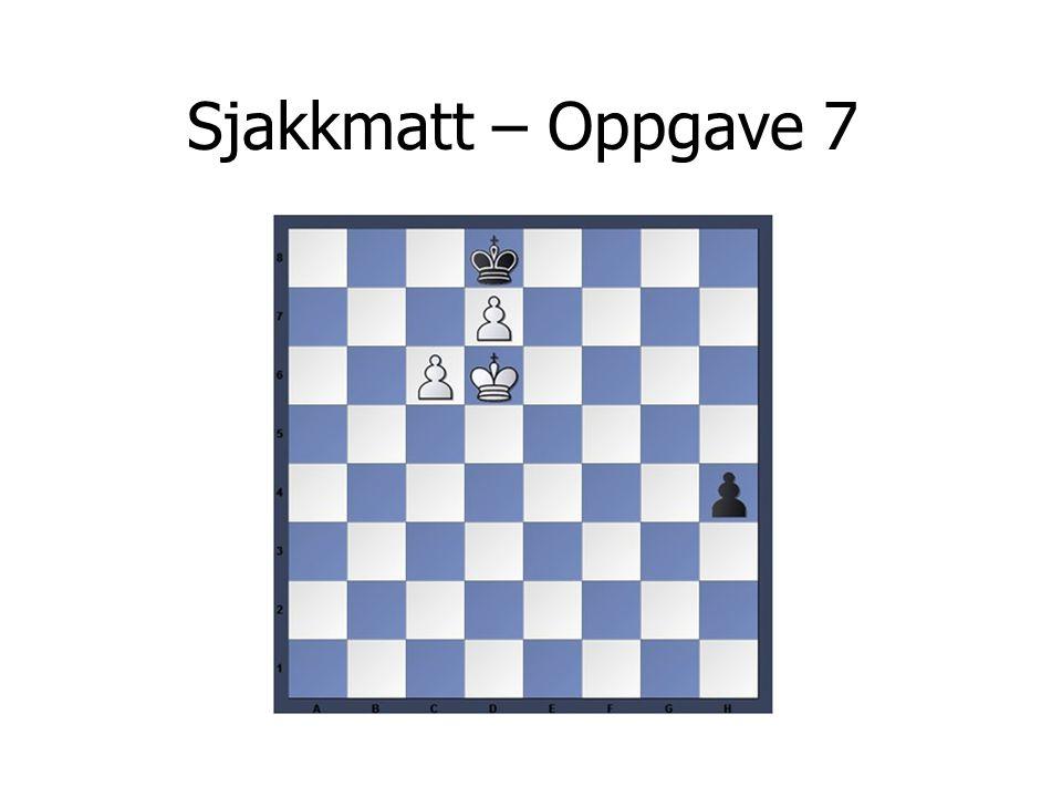 Sjakkmatt – Oppgave 7