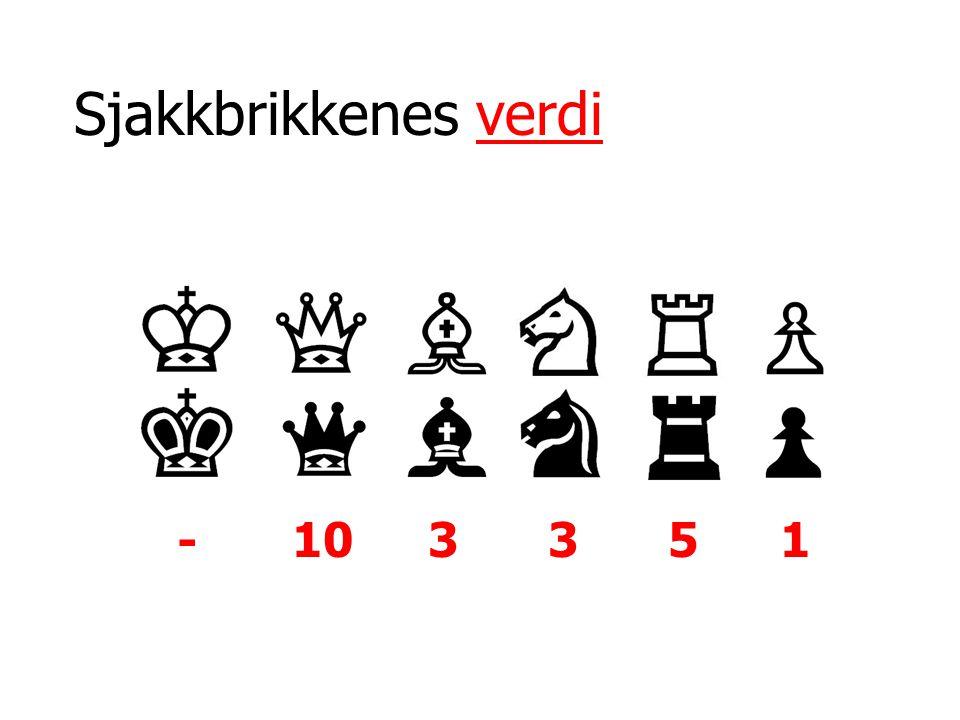 Sjakkbrikkenes verdi - 10 3 3 5 1