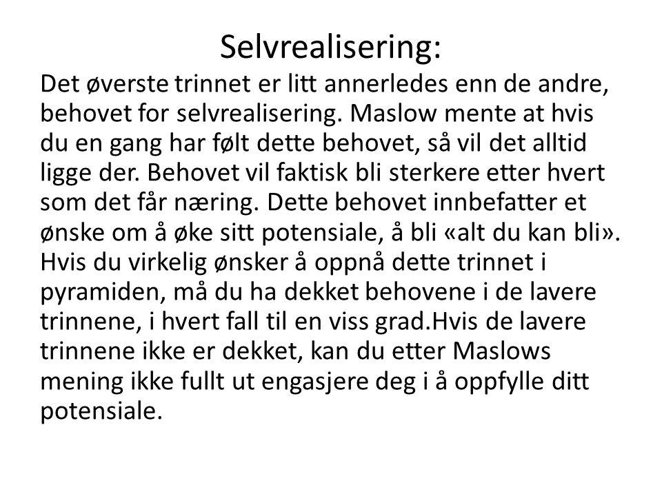 Selvrealisering: