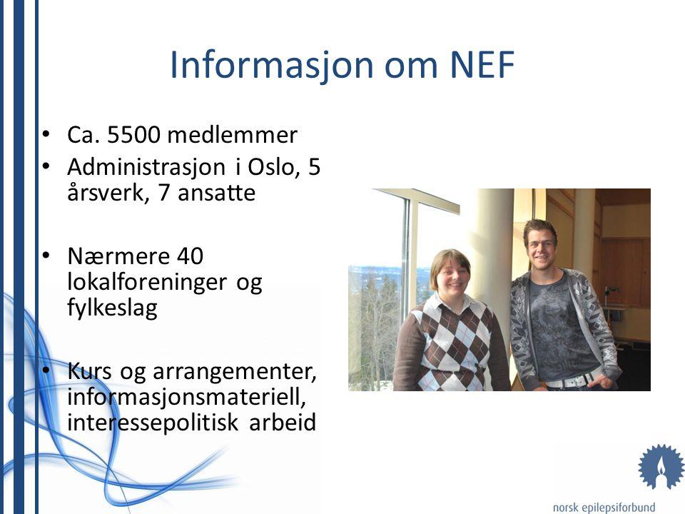 Informasjon om NEF Ca. 5500 medlemmer