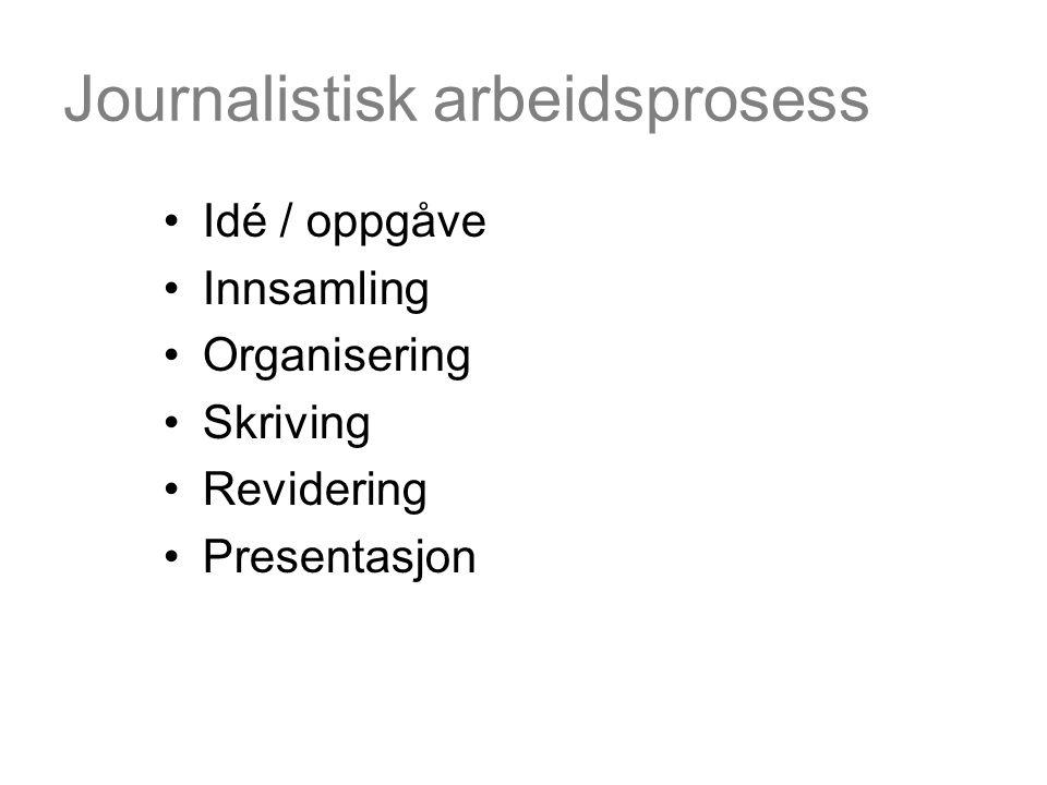 Journalistisk arbeidsprosess