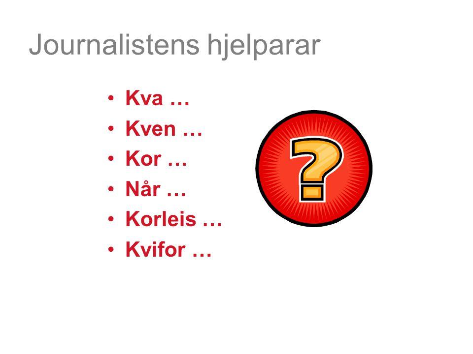 Journalistens hjelparar