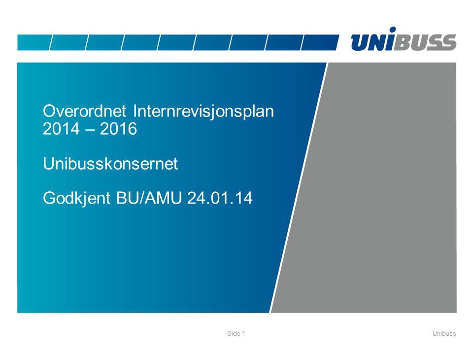 Overordnet Internrevisjonsplan 2014 – 2016 Unibusskonsernet Godkjent BU/AMU 24.01.14