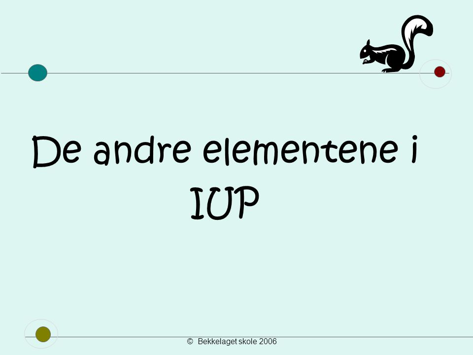 De andre elementene i IUP