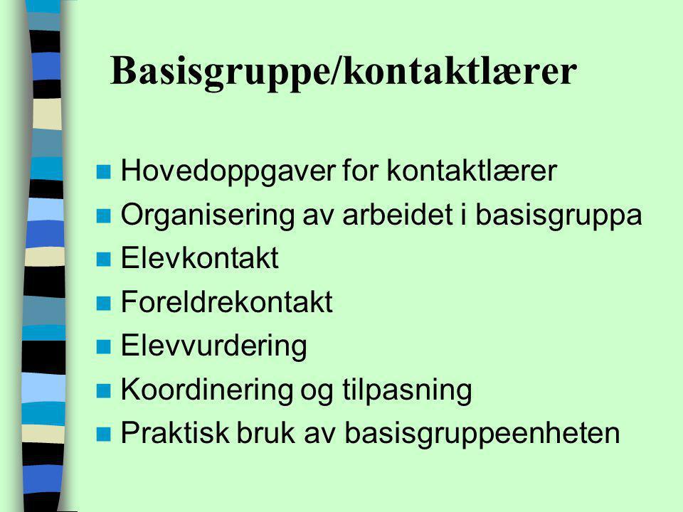 Basisgruppe/kontaktlærer
