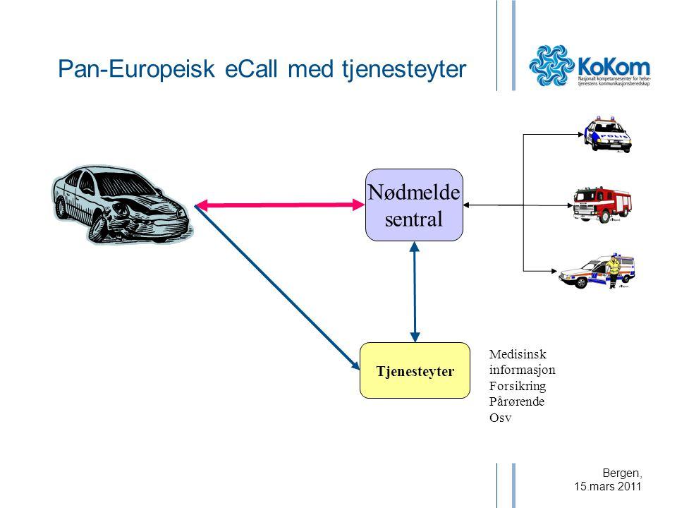 Pan-Europeisk eCall med tjenesteyter