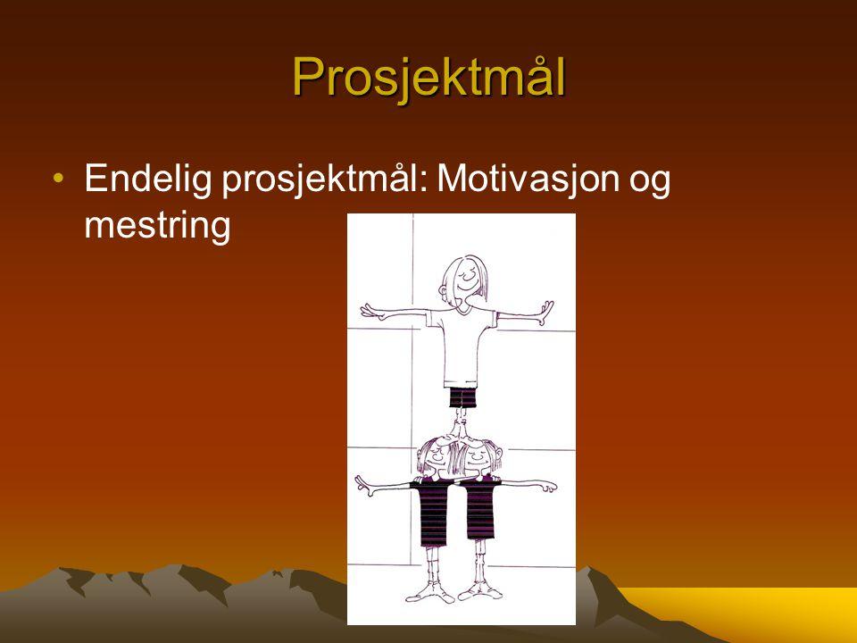 Prosjektmål Endelig prosjektmål: Motivasjon og mestring