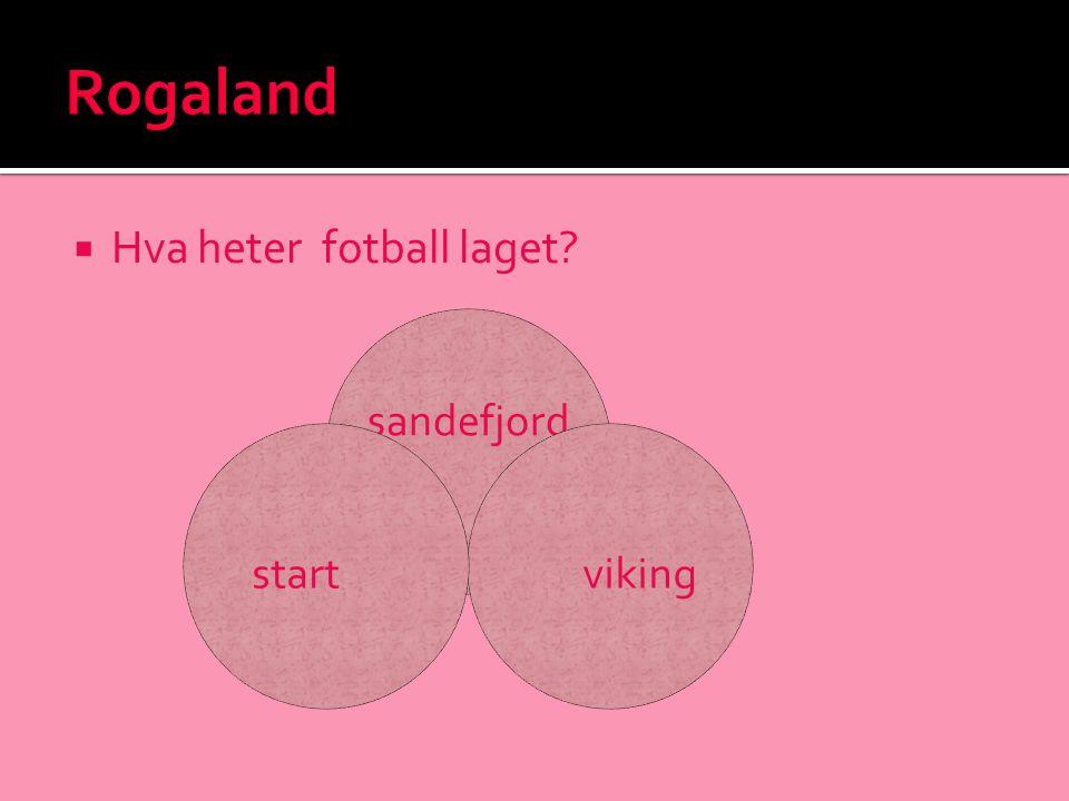 Rogaland Hva heter fotball laget sandefjord viking start