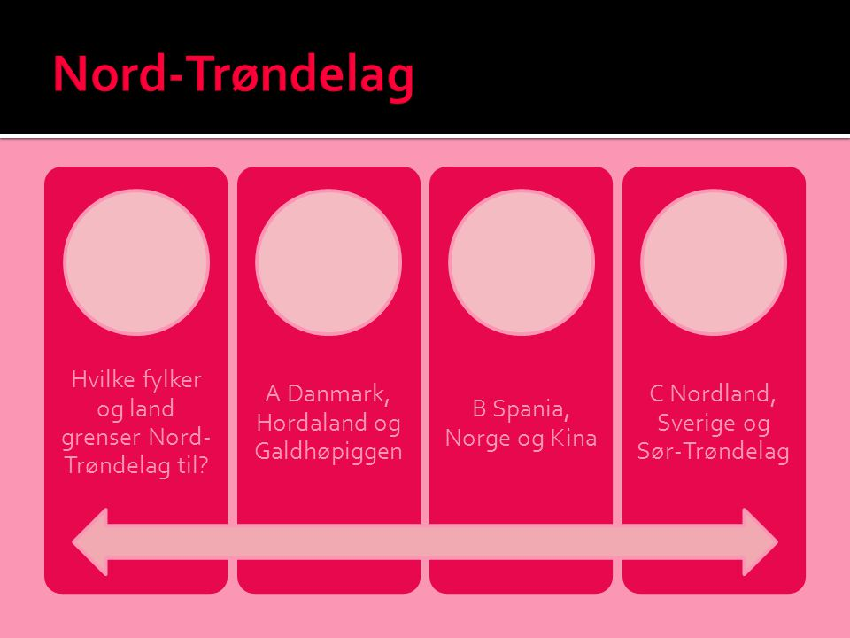Nord-Trøndelag Hvilke fylker og land grenser Nord-Trøndelag til