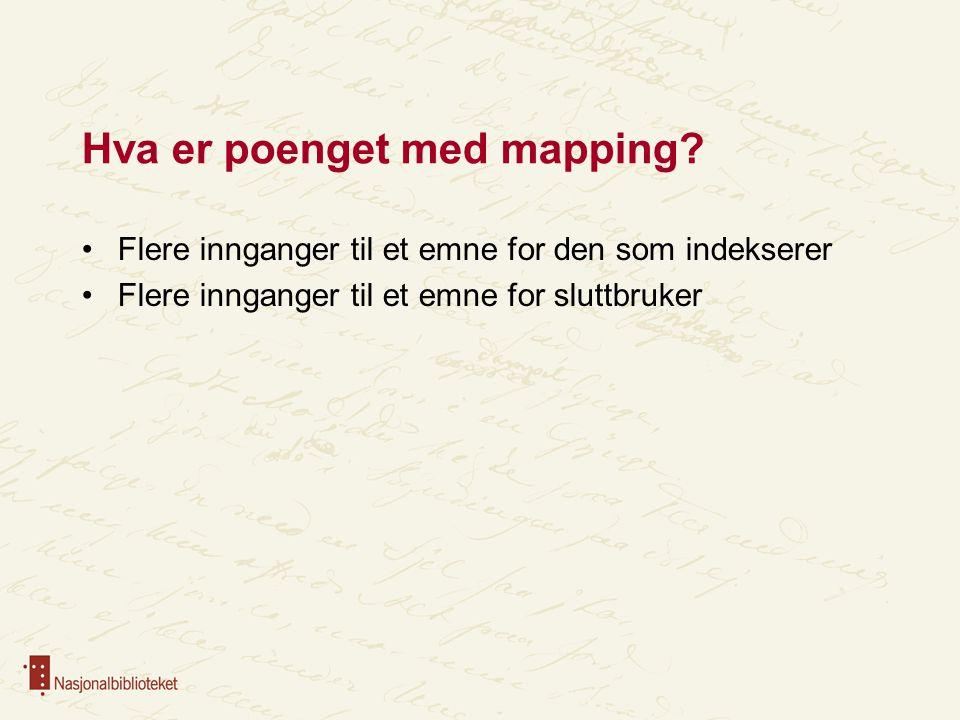Hva er poenget med mapping