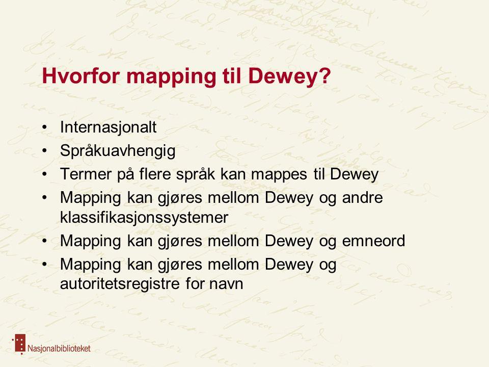 Hvorfor mapping til Dewey