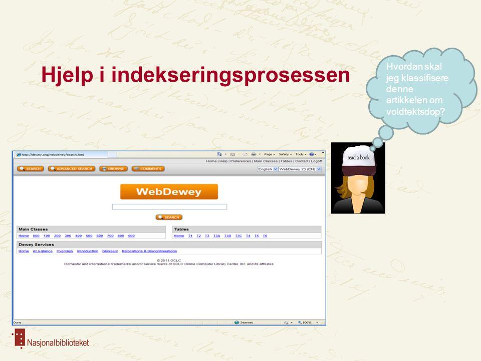 Hjelp i indekseringsprosessen