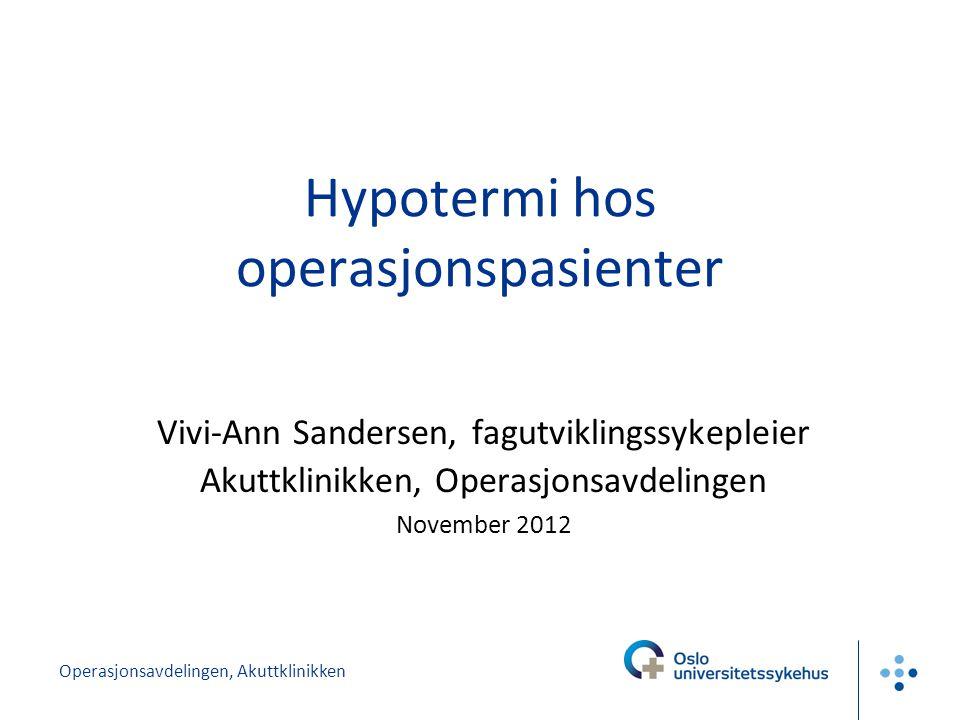 Hypotermi hos operasjonspasienter
