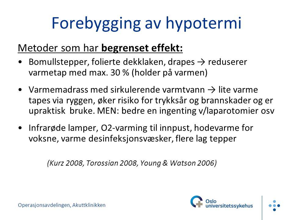 Forebygging av hypotermi