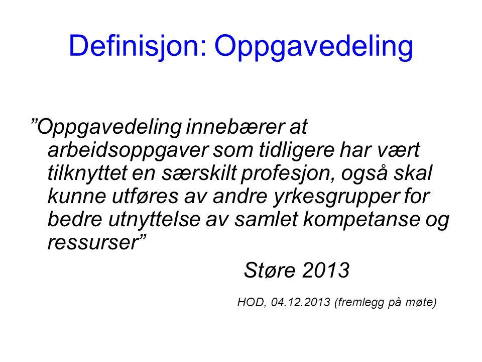 Definisjon: Oppgavedeling