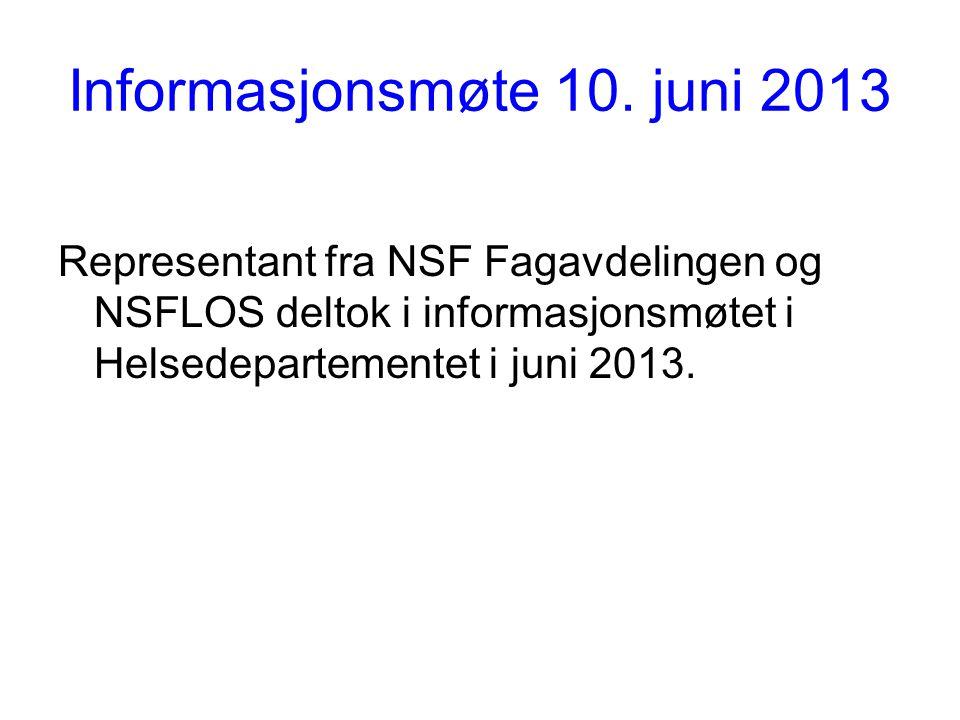 Informasjonsmøte 10. juni 2013