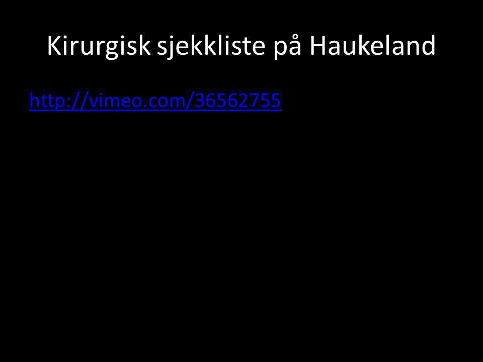 Kirurgisk sjekkliste på Haukeland