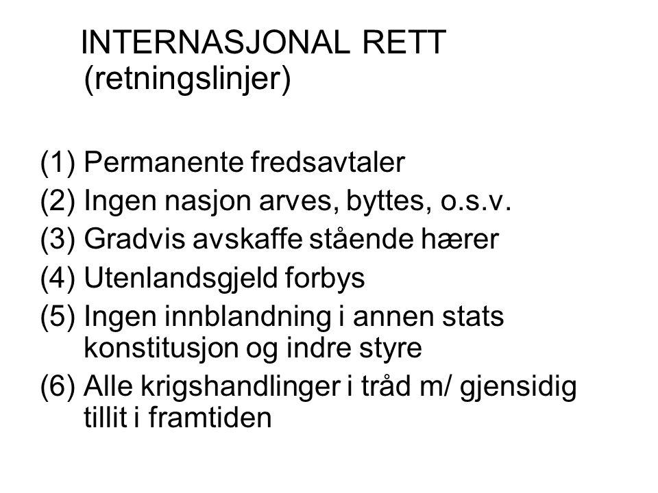 INTERNASJONAL RETT (retningslinjer)