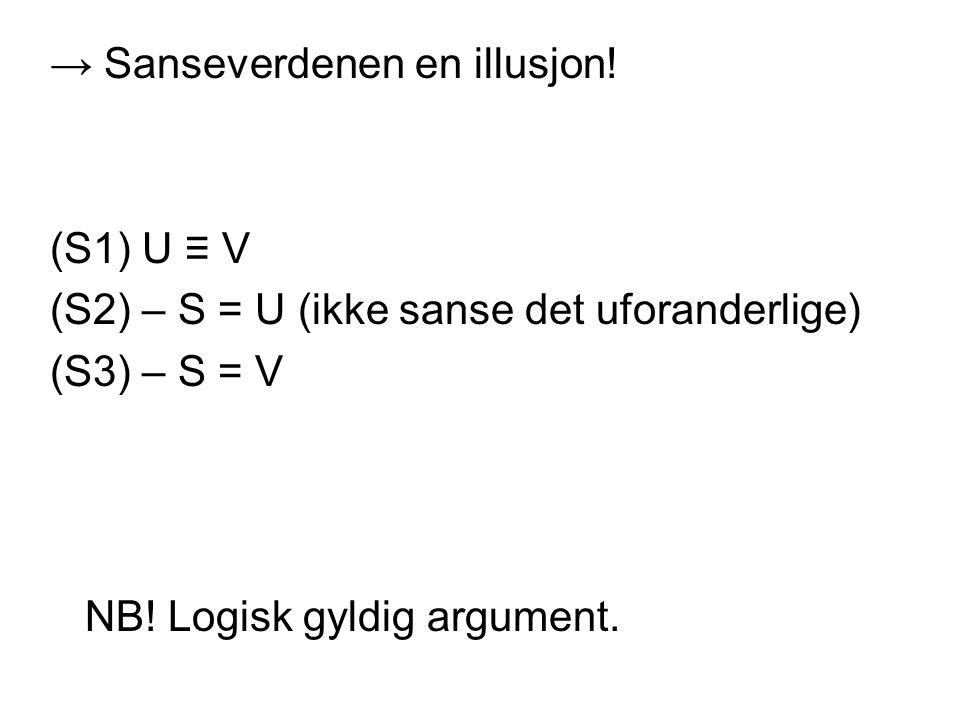 → Sanseverdenen en illusjon!