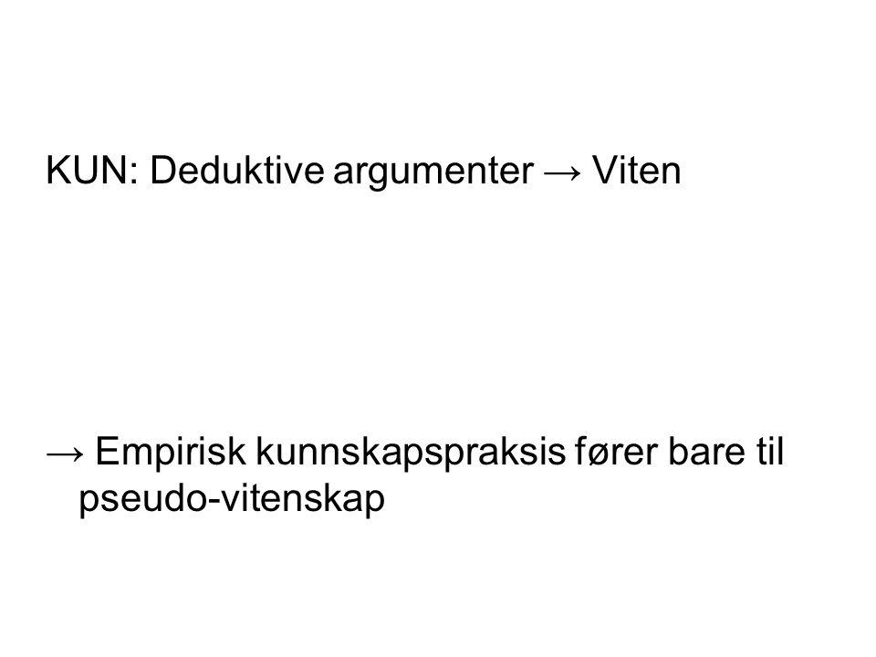 KUN: Deduktive argumenter → Viten